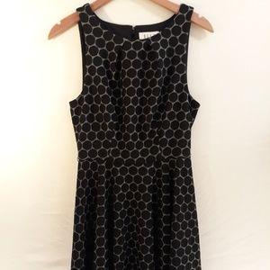 ELLE Black Dot Sleeveless Dress